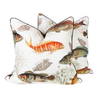 Custom Nautical Fish Pillows - A Pair