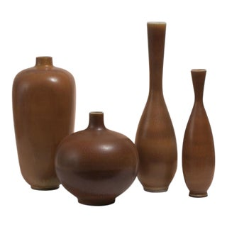 BERNDT FRIBERG Collection of Vases Gustavsberg Studio Sweden, ca. 1950 For Sale
