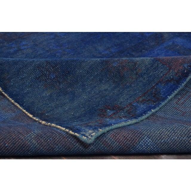 "Vintage Blue Over-Dyed Rug - 5'5"" X 8'5"" - Image 3 of 3"