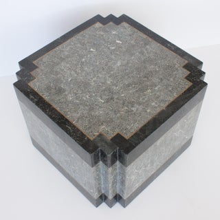 1980's Maitland Smith Tessellated Stone & Brass Side Table Preview