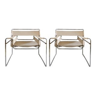 Gavina Wassily Chairs by Marcel Breuer - a Pair For Sale