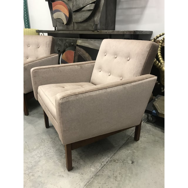 Sand 1970s Vintage Danish Club Chairs- A Pair For Sale - Image 8 of 12