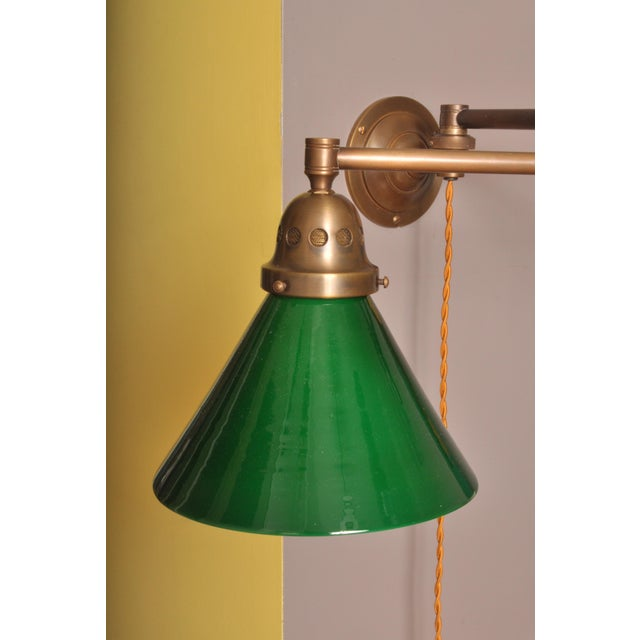 1930s Swing Arm Wall Lamp, Switzerland 1930s For Sale - Image 5 of 6