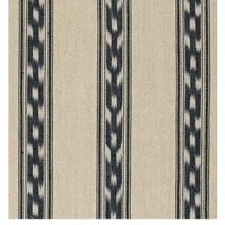 5 1/2 Yards Schumacher Mojave Ikat Stripe Fabric For Sale