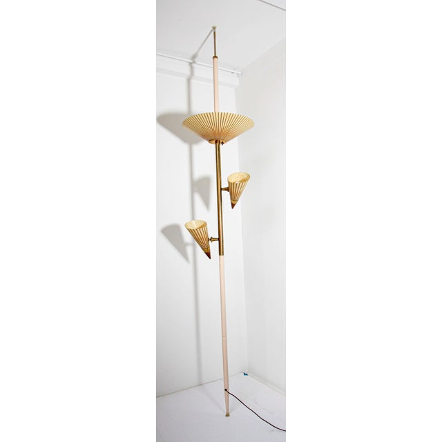 1950s Adjustable Vintage Three Shades Extension Pole Lamp by Gerald Thurston For Sale - Image 12 of 13