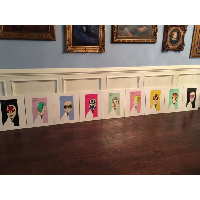 """A very rare collection of Limited Edition prints from the Prada """"Head Concepts"""" display at the Metropolitan Museum of Art..."""