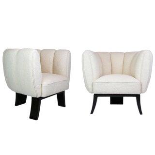 Guglielmo Ulrich 1930s Art Deco Club Chairs - A Pair For Sale