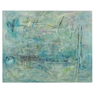 """Large Abstract Expressionist Painting by Ellen Reinkraut """"Laws of Attraction"""" For Sale"""