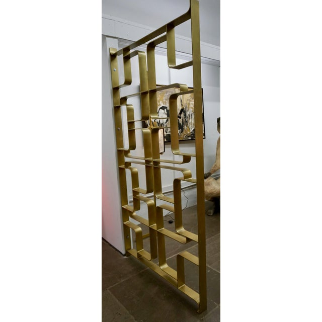 Brass and Steel Room Dividers or Gates - a Pair For Sale - Image 4 of 7