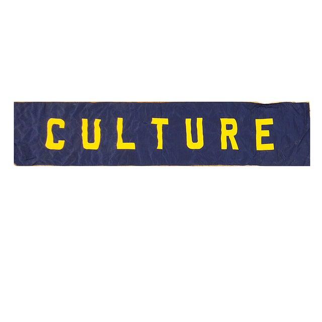 Vintage 'Culture' Banner - Image 1 of 3