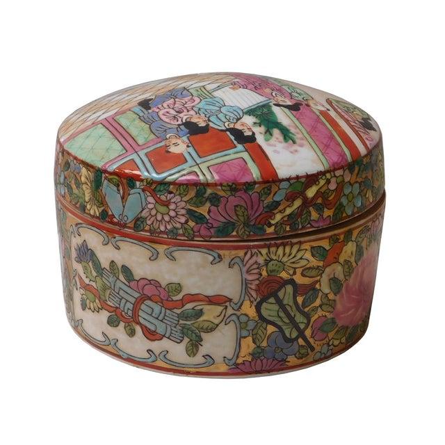 Oriental Porcelain Scenery Box - Image 3 of 6
