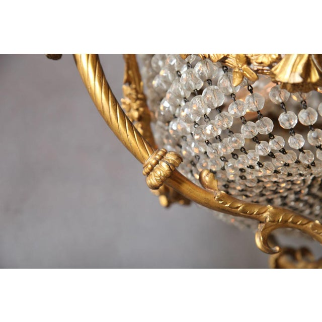 Fine Bronze and Crystal Period Empire Chandelier For Sale - Image 10 of 10