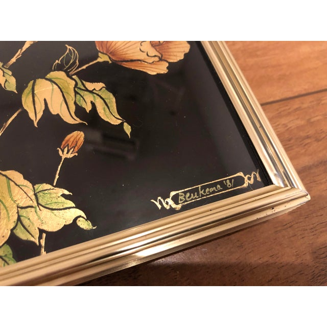 La Barge Églomisé Hand Painted Beveled Mirror For Sale In Seattle - Image 6 of 11