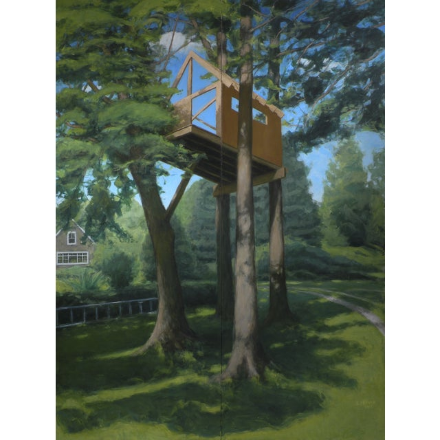 """""""Tree House ~ Looking Up"""" Contemporary Large Painting by Stephen Remick For Sale"""