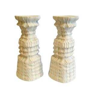 Midcentury German Bisque Rosenthal Candleholders For Sale