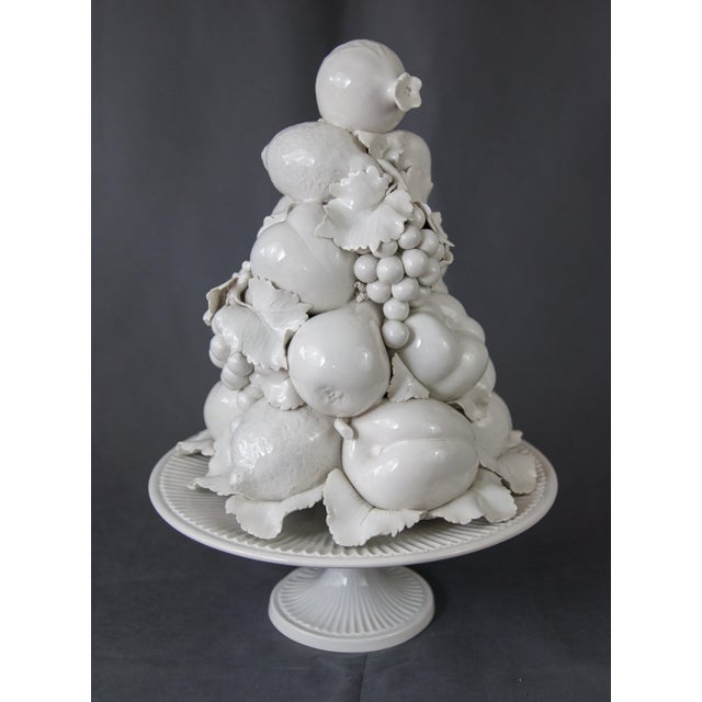 Large Italian White Creamware Fruit Topiary Centerpiece For Sale - Image 13 of 13