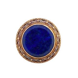 Antique 14k Gold Lapis Lazuli Ring For Sale