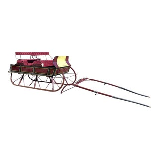 Restored Antique 2 Seat Box Sleigh Equestrian Sled For Sale