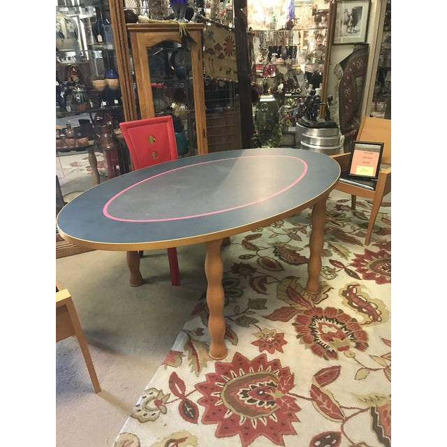 Contemporary Oval Dining Table - Image 2 of 7