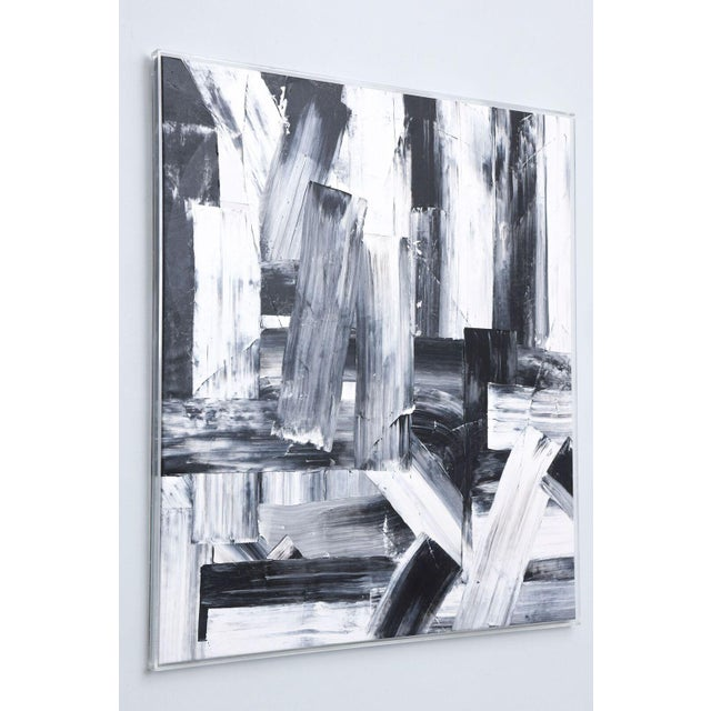Abstract An Abstract Expressionist Oil on Canvas, Renato Freitas For Sale - Image 3 of 9