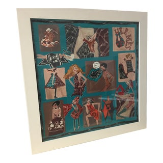 Hermes Framed Silk For Sale