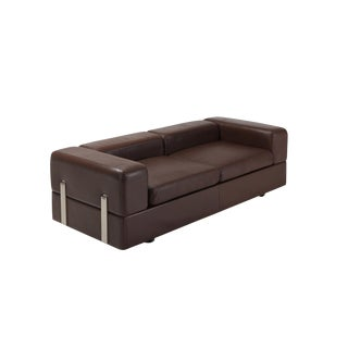 Daybed Sofa 711 by Tito Agnoli for Cinova in Brown Leather For Sale