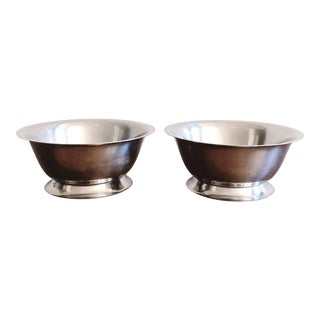 Vintage Stainless Steel Bowls - a Pair For Sale