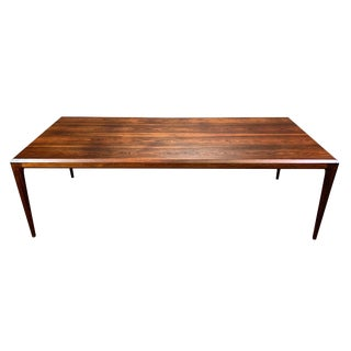 1960s Scandinavian Modern Johannes Andersen Rosewood Coffee Table For Sale