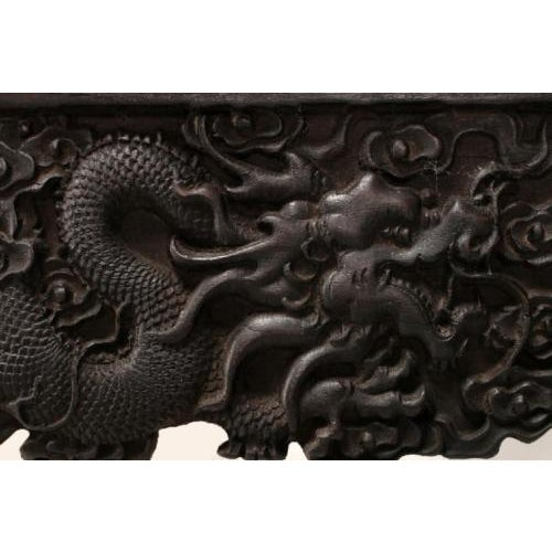 Asian Antique Chinese Handmade Zitan Dragon Table For Sale - Image 3 of 11
