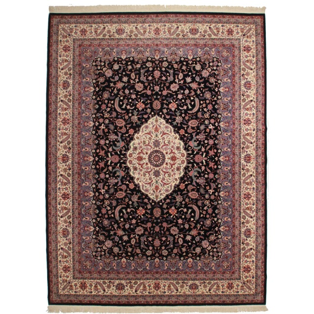 Vintage Hand Knotted Wool Chinese Rug - 12' X 16' For Sale