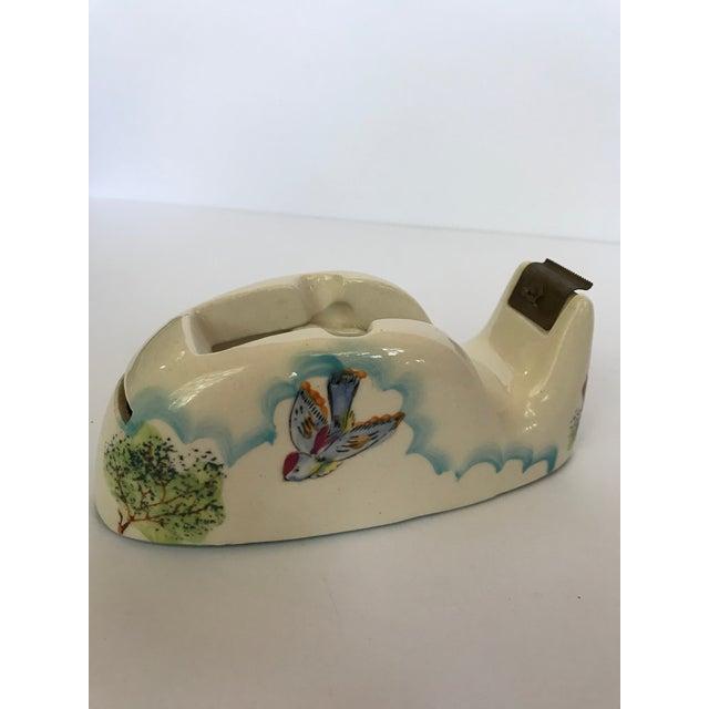 Vintage Ceramic Fred Roberts Tape Dispenser For Sale - Image 4 of 9