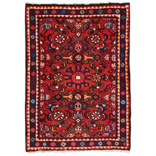 Late 20th Century Vintage Persian Hamadan Accent Rug- 2′1″ × 2′10″ For Sale