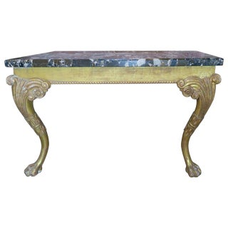 Monumental French Gilt Wood Console With Marble Top $2,795 For Sale
