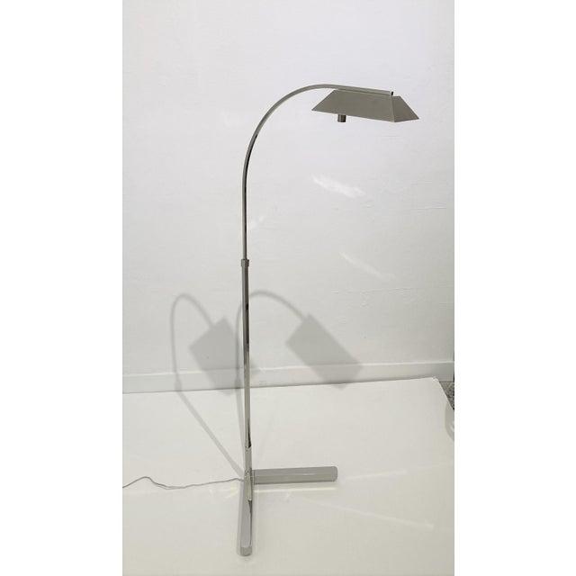 Metal Casella Floor Lamp Nickel Plated For Sale - Image 7 of 12