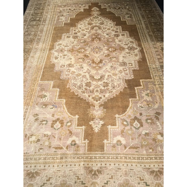 "Bellwether Rugs Vintage Turkish Oushak Rug - 6'10"" x 11'7"" - Image 3 of 8"