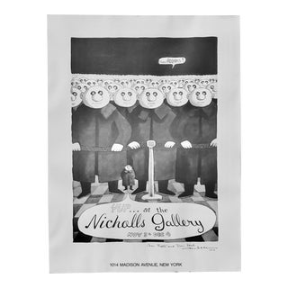 Charles Addams (1912-1988) Signed Exhibition Poster C.1976 For Sale
