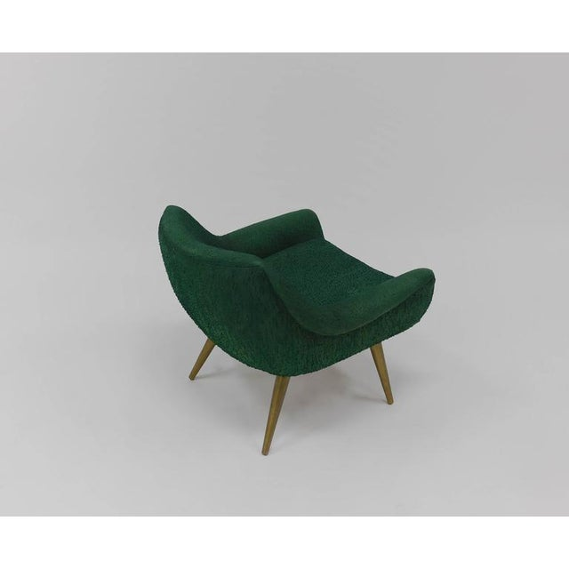 Brass Pair of Sculptural Lounge Chairs by Lawrence Peabody for Selig For Sale - Image 7 of 9