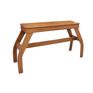 Mid Century Bowed Console Table For Sale