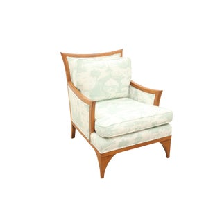 Midcentury Chinois Bergere Chair For Sale