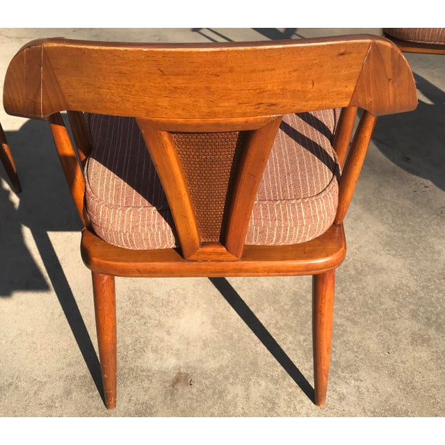 Wood Tomlinson of High Point Mid Century Dining Chairs - Set of 4 For Sale - Image 7 of 13