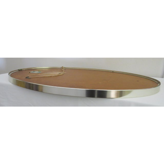 Mid-Century Modern Turner Mfg. Oval Chrome Mirror For Sale - Image 10 of 13