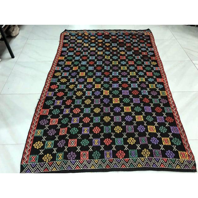 Textile Turkish Handmade Naturel Kilim Rug - 4′11″ × 7′9″ For Sale - Image 7 of 11