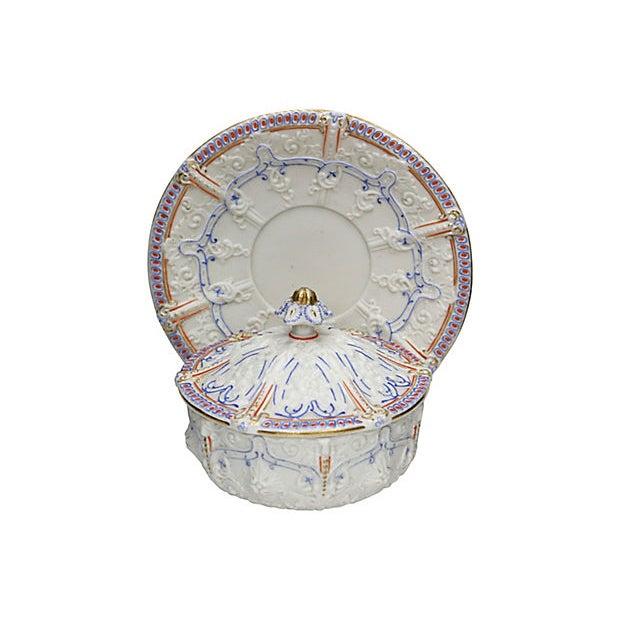 Cottage Antique Salt Glaze Covered Serving Dish For Sale - Image 3 of 6
