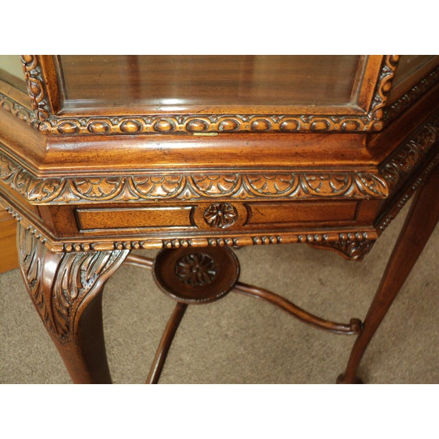 Wood Vintage Octagonal Shaped China/ Display Cabinet For Sale - Image 7 of 8
