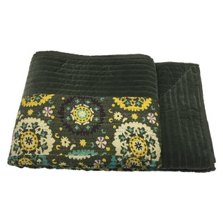 Bohemian Kantha Quilt For Sale