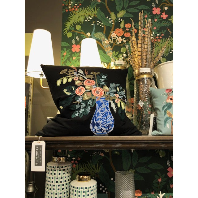 Based off one of illustrated art prints, this pillow features satin embroidery and makes a beautiful addition to your...