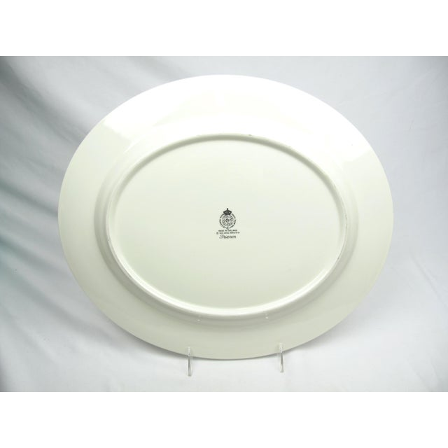 Late 20th Century Large Royal Worcester Trianon Serving Platter For Sale - Image 5 of 7