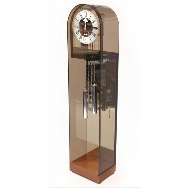 1970 Vintage Howard Miller Smoked Lucite Clock - Image 3 of 7