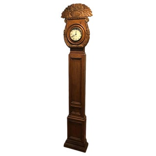 Carved Wooden Chapman Longcase Clock For Sale