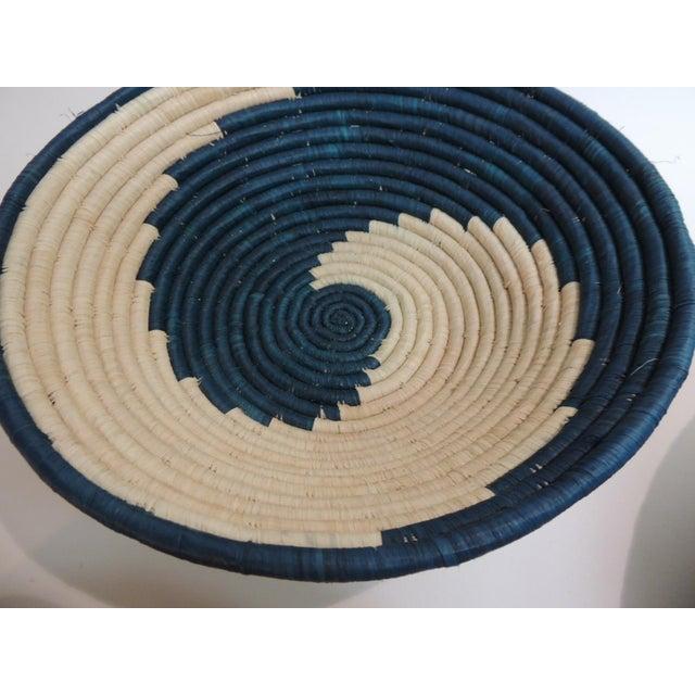 Vintage Tribal Colorful Round Baskets/Bowls - Set of 3 - Image 5 of 7